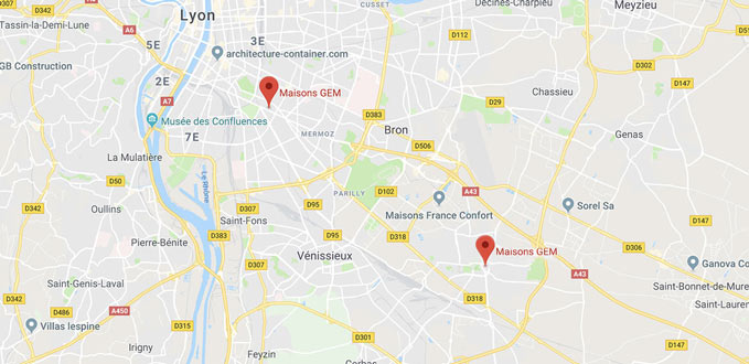 Google map Maisons GEM